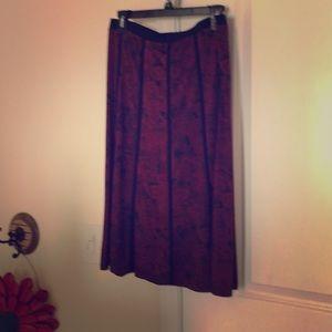 NYCC medium dark red and black paisley skirt